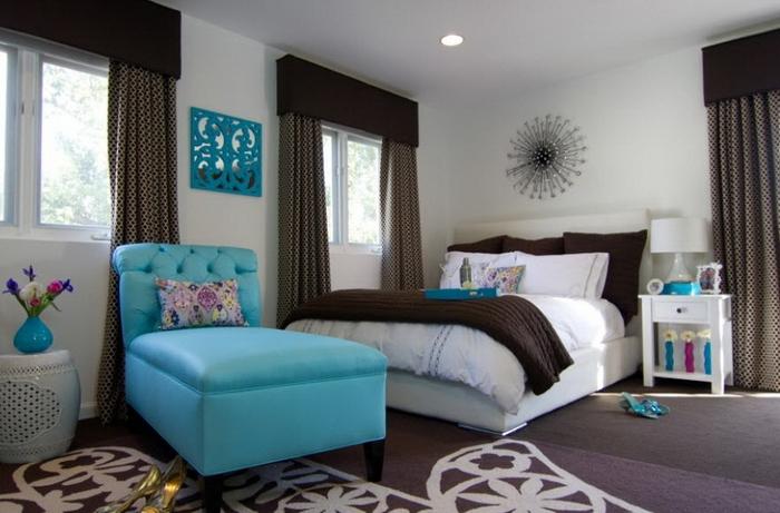 Бирюзовый цвет в интерьере мебель