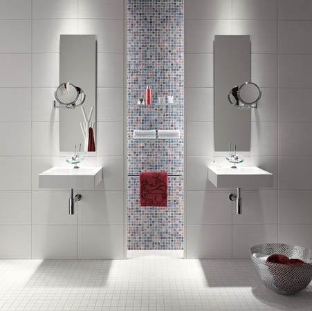 Современные ванные комнаты кафельной плиткой