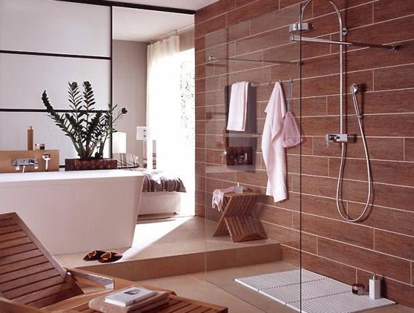 Moderne elegante badezimmer
