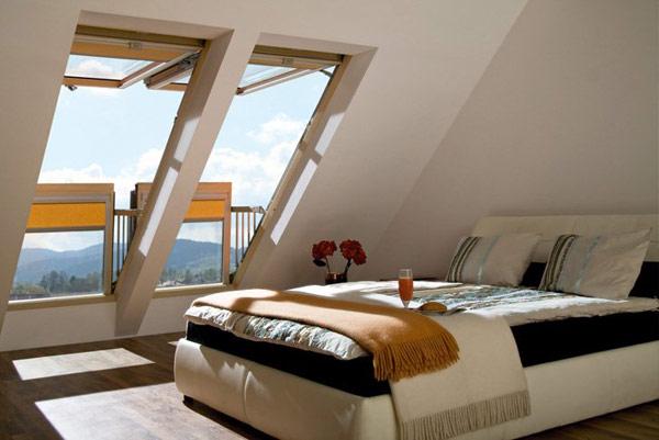 Дизайн мансардного этажа с балконом