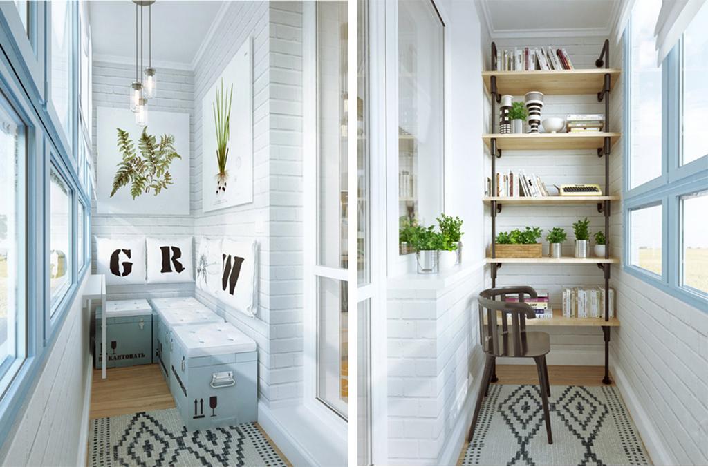 Маленький балкон - 75 очаровательных идей - фото.