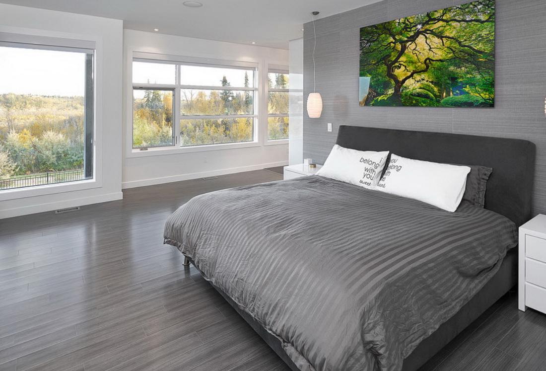 Серый пол белые стены в интерьере фото