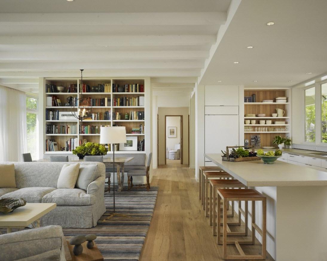 Как сделать в гостиной потолок