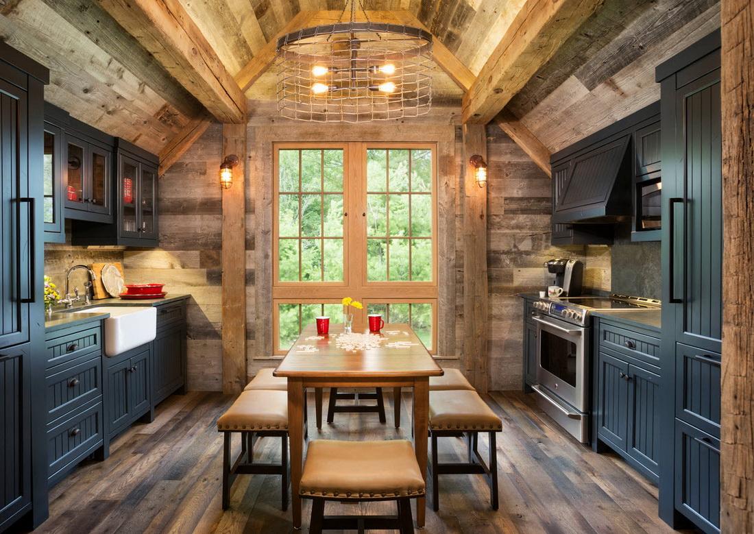 Дизайн кухни в деревенских домах