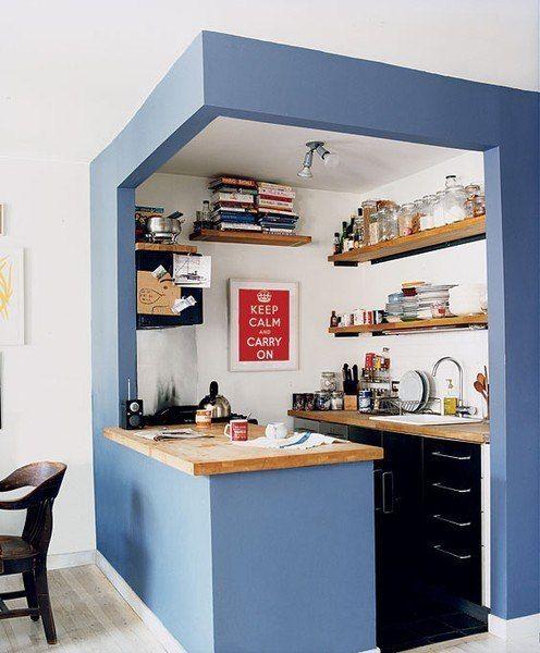 Дизайн простой кухни