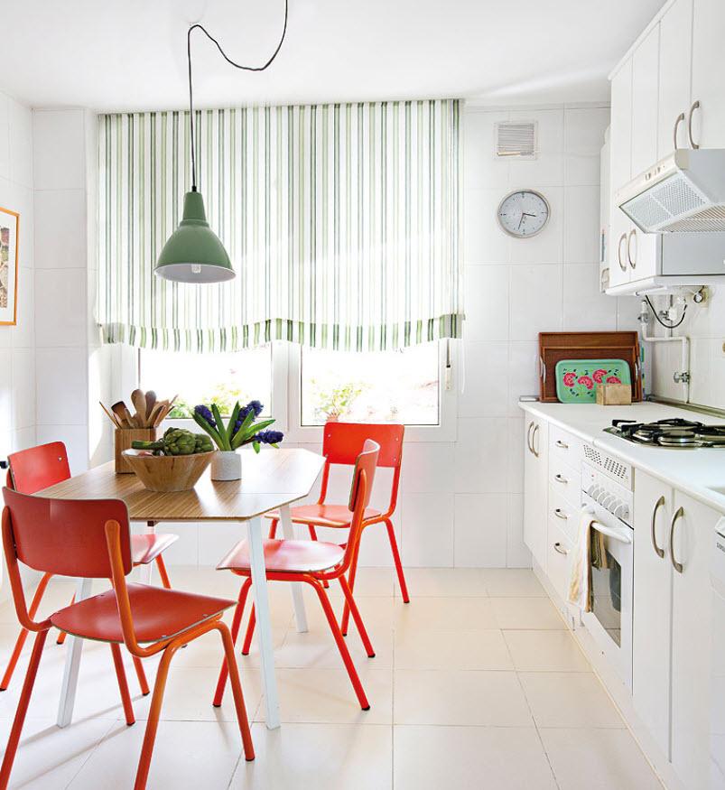 Какие модные шторы на кухню