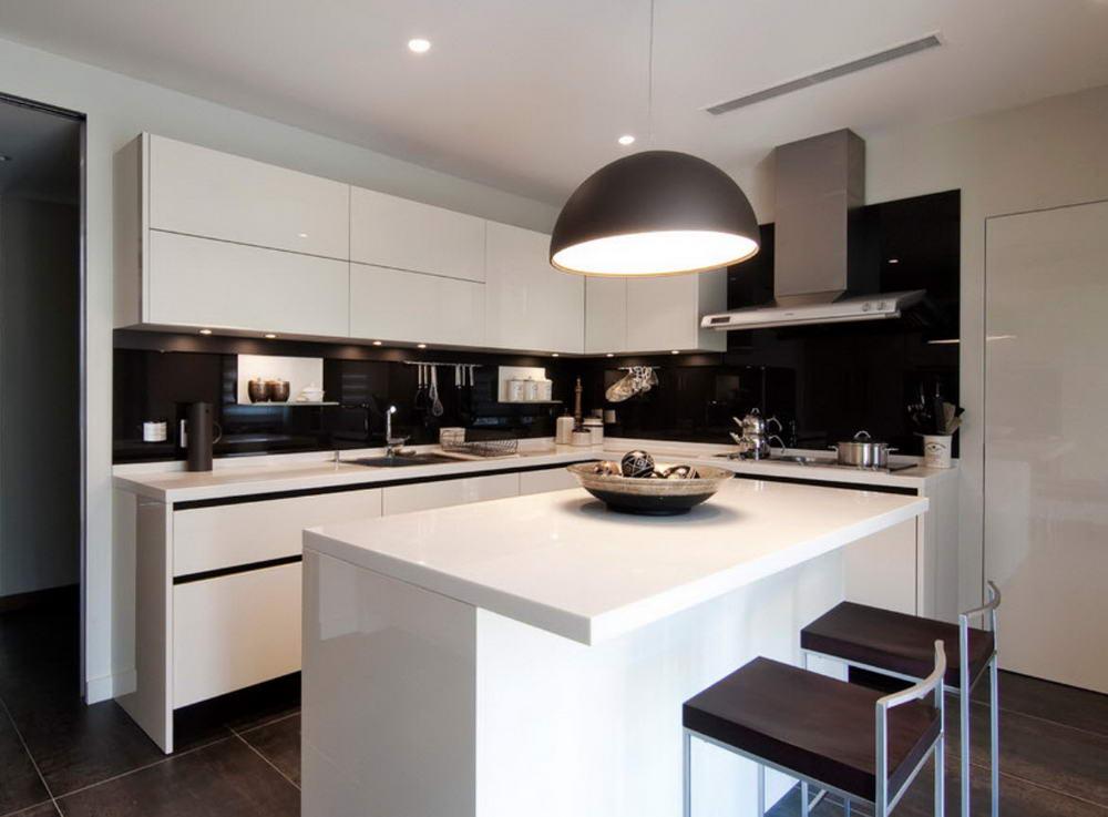 Интерьер гостиной совмещенной с кухней 50 фото дизайна