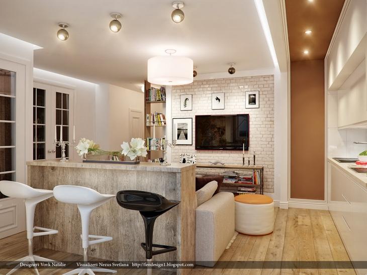 Идеи интерьеров для квартир студий