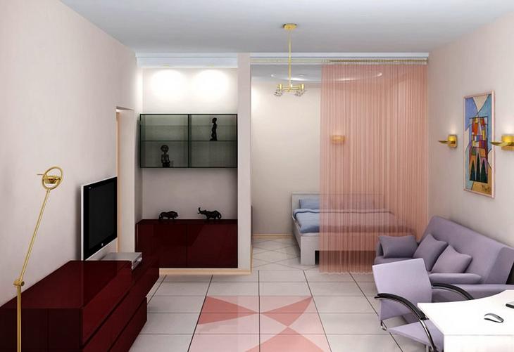 Как обустроить маленькую квартиру-студию фото, советы по 77