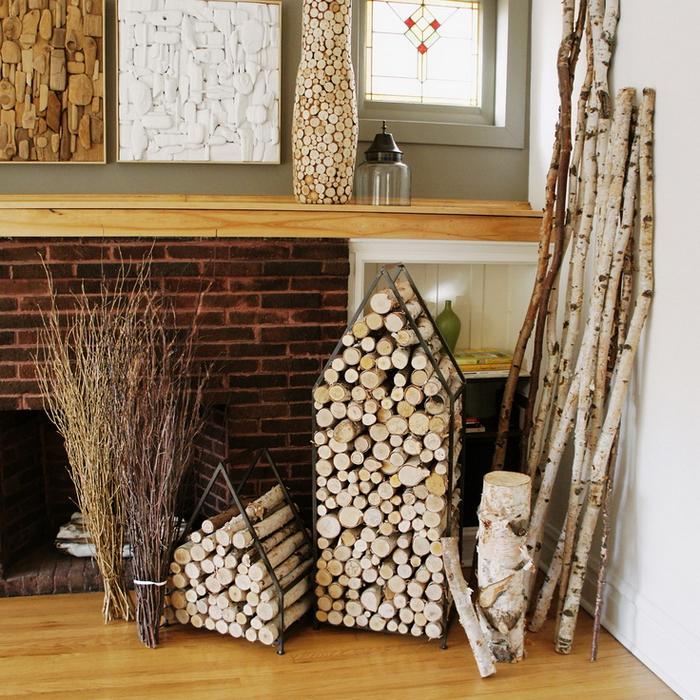 Поленница и место для хранения дров