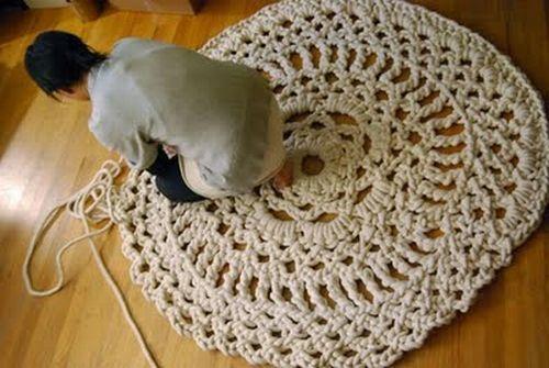 Плетёные коврики