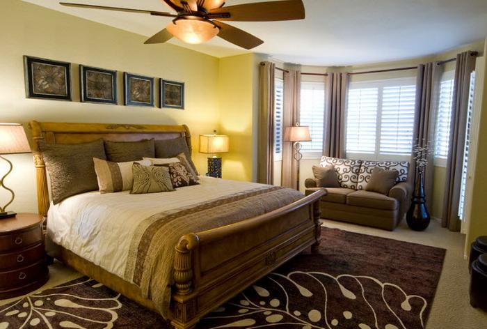 спальня кровать из дерева