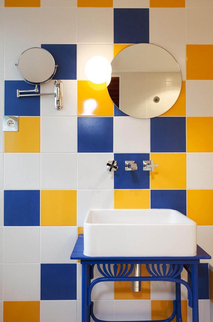 40 for Salle de bain jaune et marron