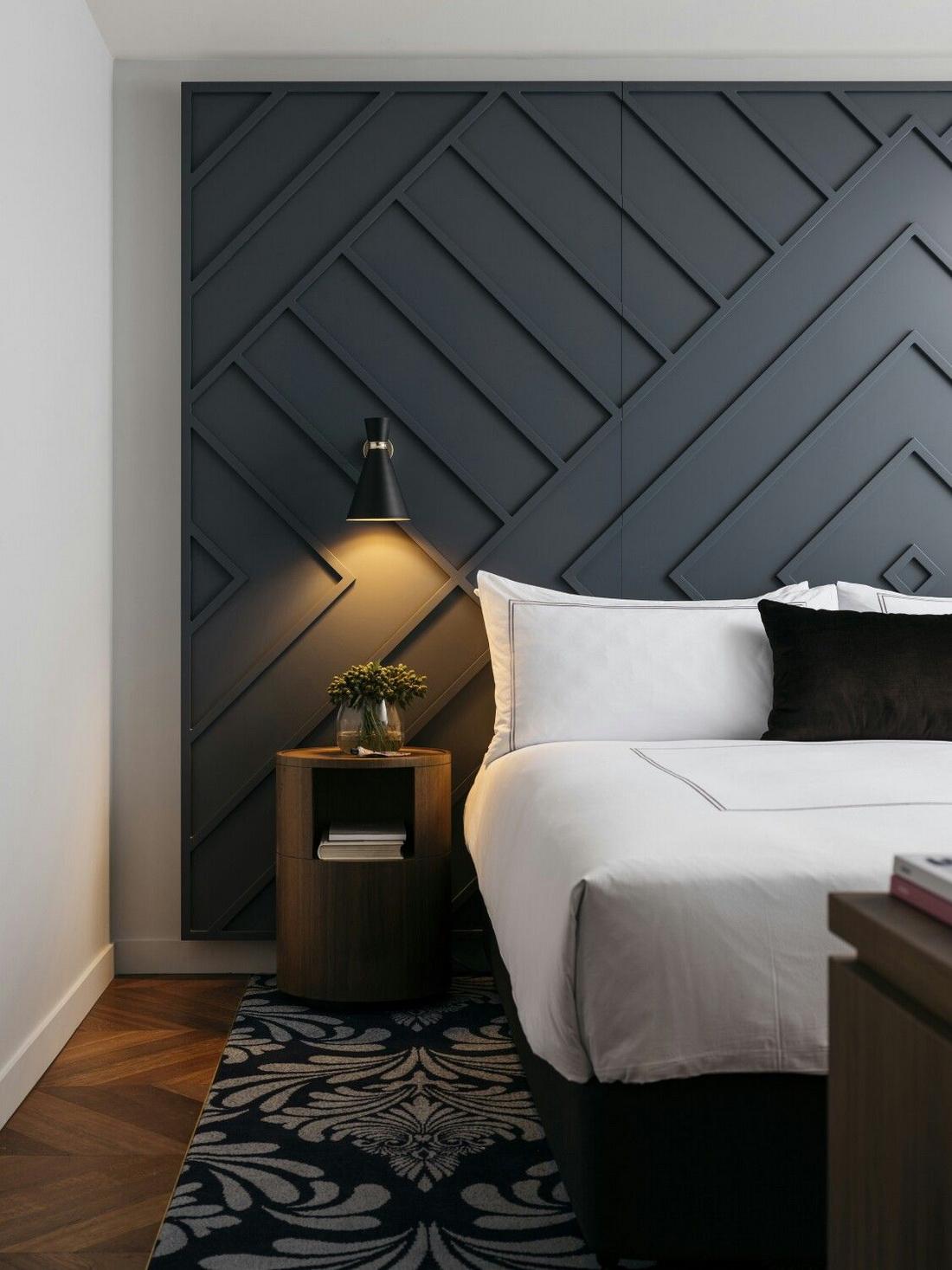 изголовье кровати панели
