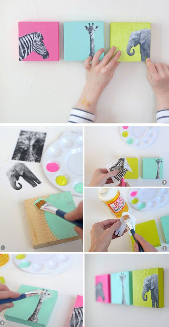 украсить стену в комнате - фото