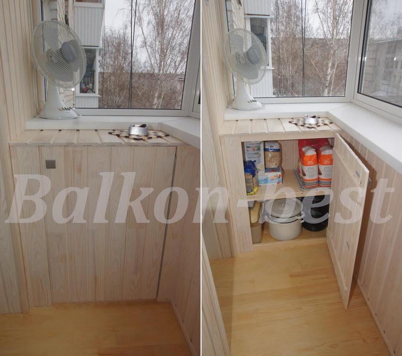 Шкафчик на балкон своими руками фото