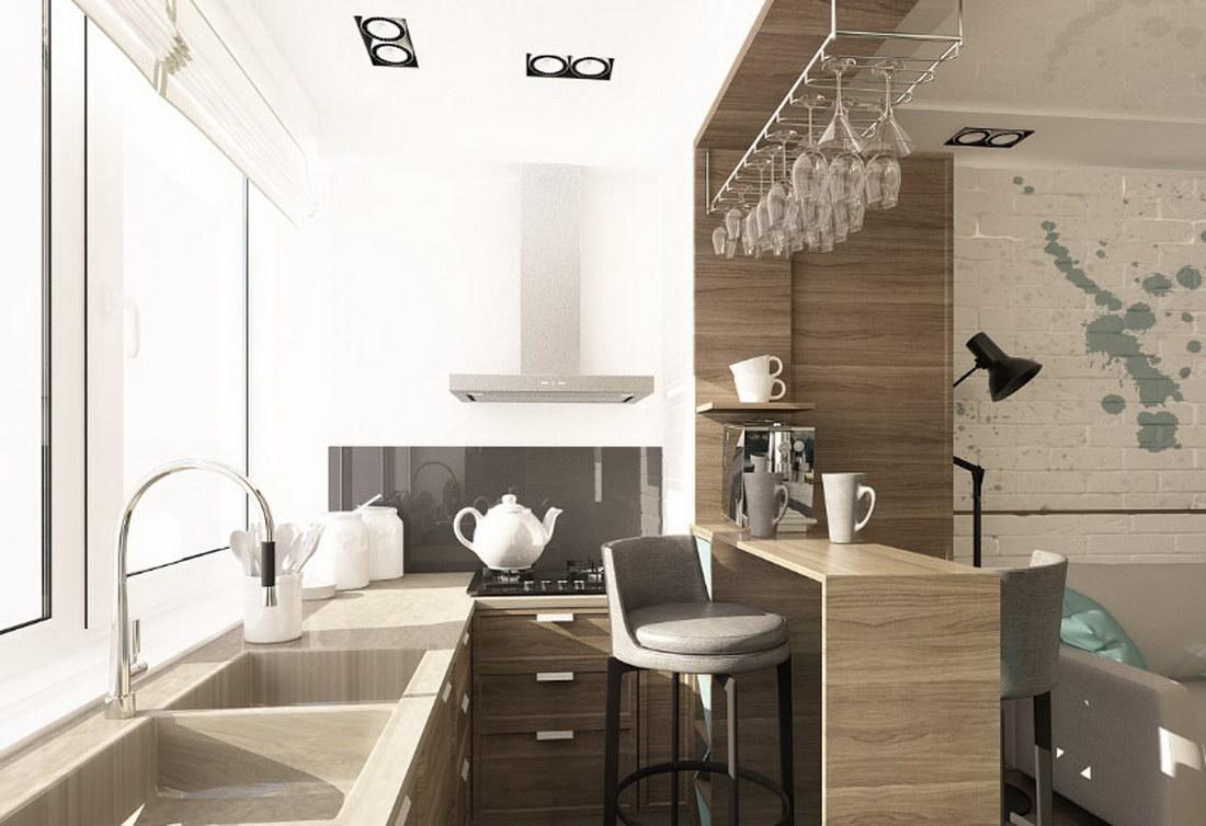 кухня совмещенная с лоджией