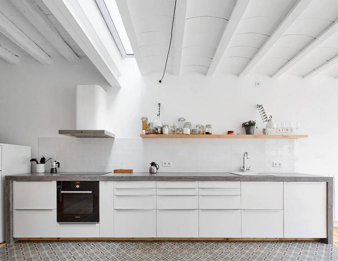 как сделать кухню без верхних шкафов и не потерять функциональность