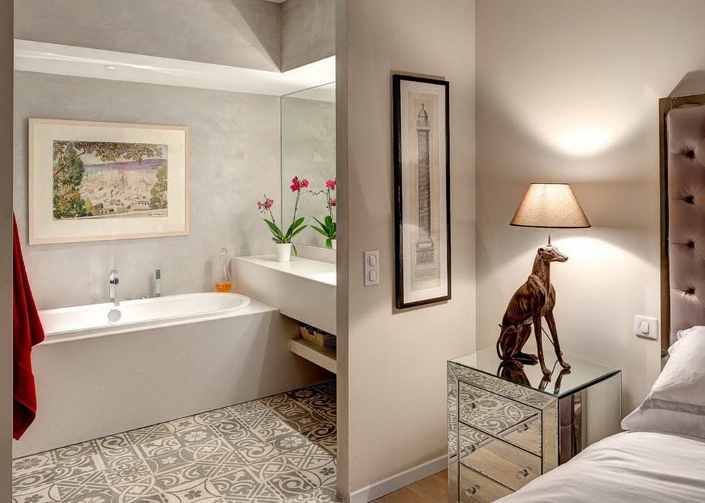 Дизайн спальная с туалетом