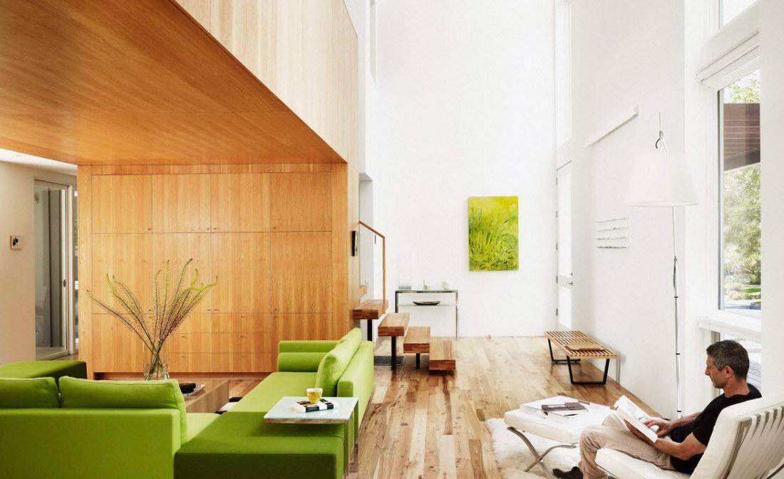Зеленый диван - фото
