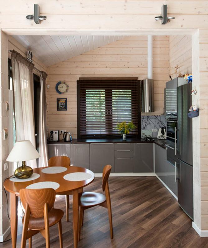 Простой интерьер дома из клееного бруса внутри фото