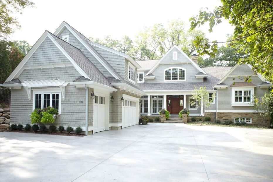 Дом с блок хаус фото