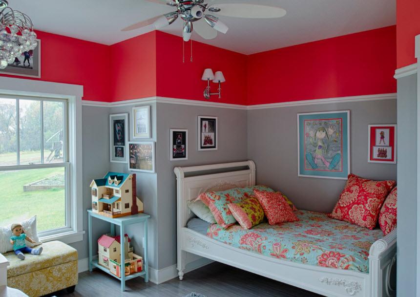 Идеи покраска стен в детской фото