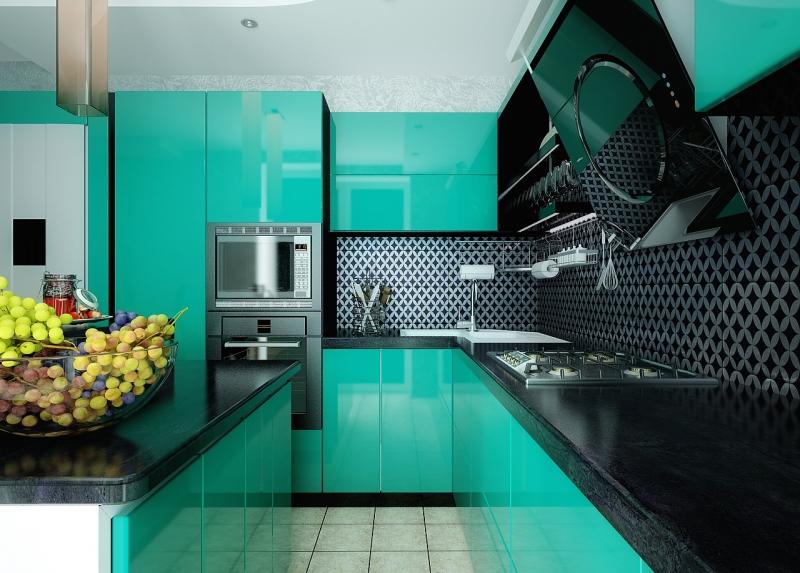 Кухни со столовой дизайн 38