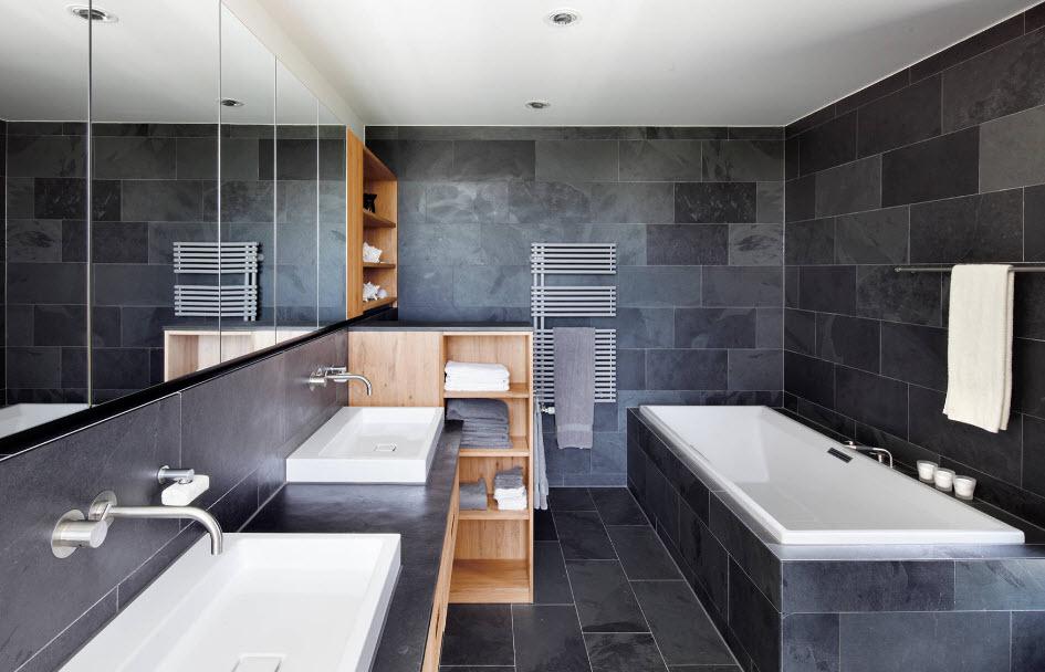 Новые тенденции дизайна ванной комнаты фото