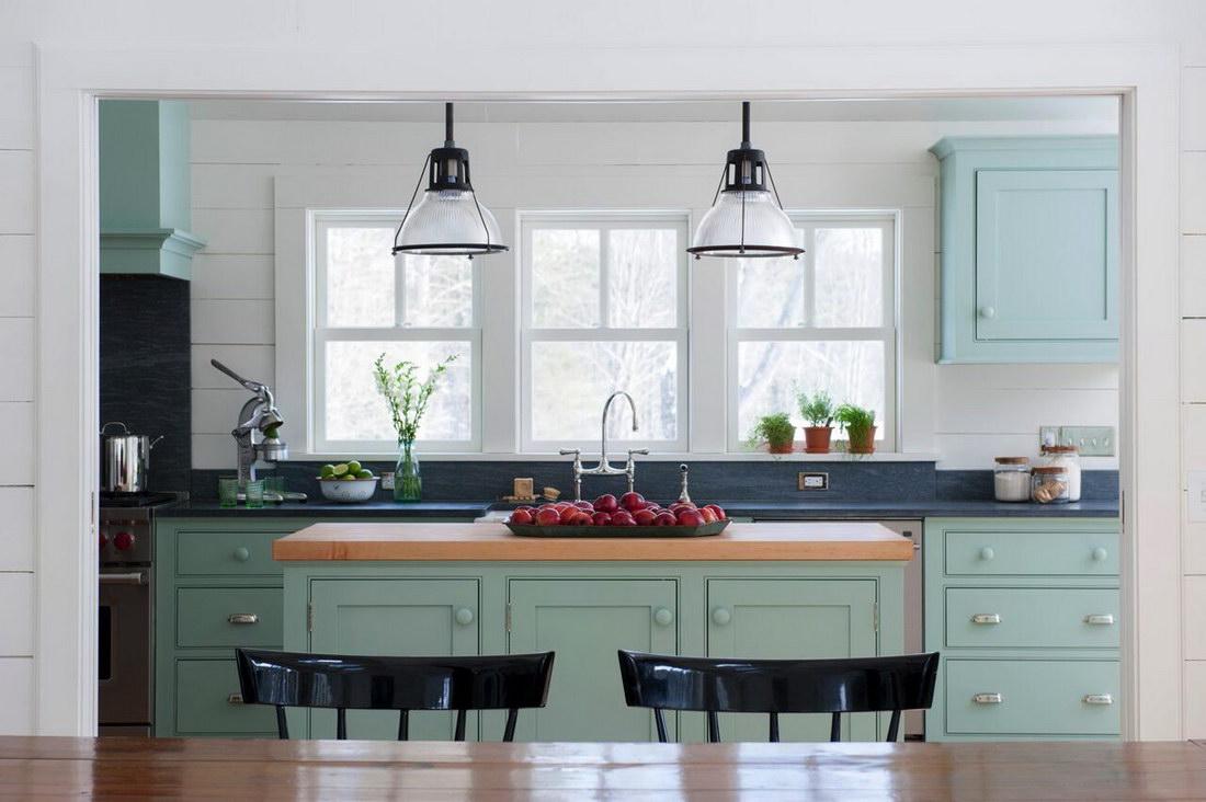 Цвет окон на кухне