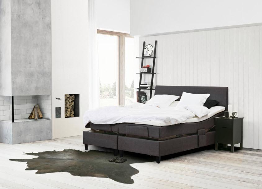 Дизайн спальни с темной мебелью