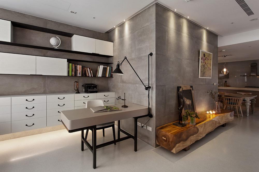 интерьеры из бетона