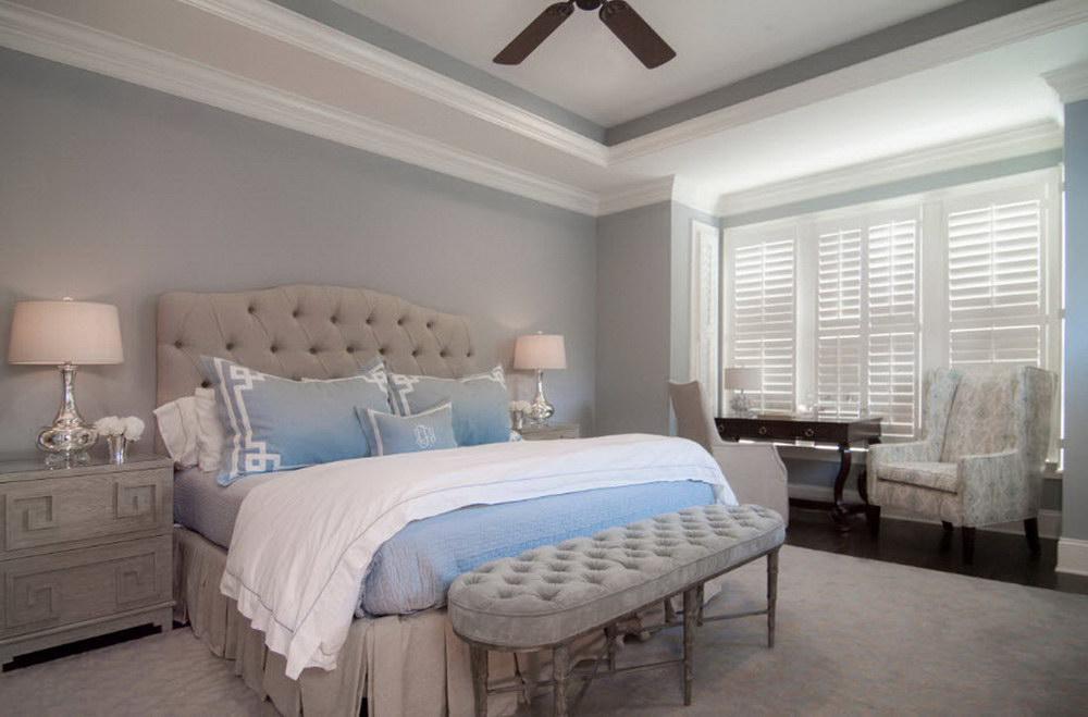 30 красивых серо голубых спален