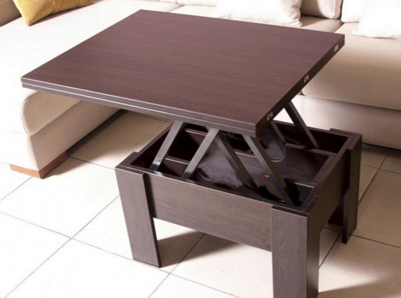 Удобный складной стол для гостиной: 3 механизма трансформации