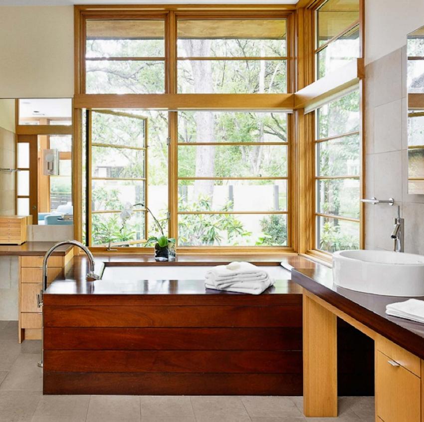 Дерево в ванной - очень уютно и красиво - 100 идей