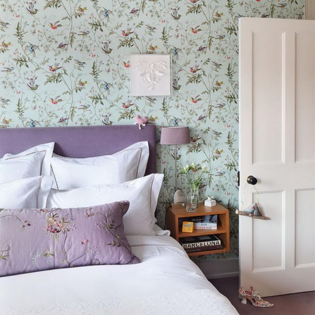 современным видом бумажные обои для спальни фото пожелания утро