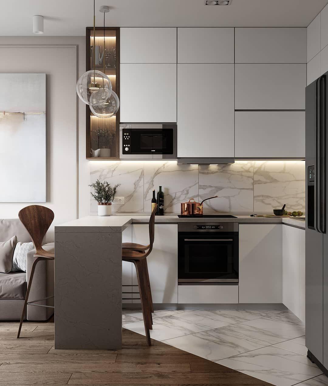 Вопрос: Серый цвет на кухне – с чем его сочетать   Houzz ...